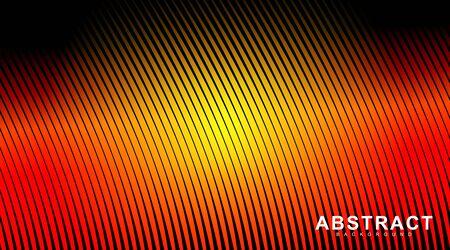 abstract vector background. Summer gradient curved line pattern. illustration of a dark glowing vector design Ilustração