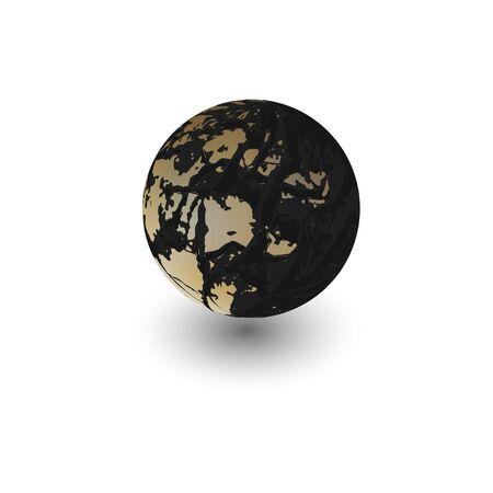 Grunge 3d sphere vector background. realistic design