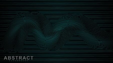 abstract vector background. wavy line pattern. illustration of a dark glowing vector design
