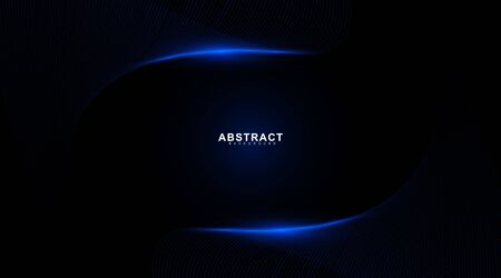 Abstract background of wavy and glowing blue lines. Vector technology digital design Ilustração