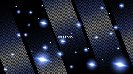 abstract vector background. lines and bright bokeh circles. design technology