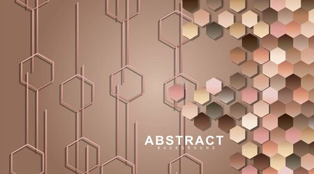 abstract vector background. Hexagonal geometric walls. Surface polygon pattern with hexagon shadows, honeycomb. vector illustration design