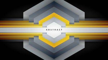 Abstract vector background. geometric hexagon shape texture overlapping . Layout design Ilustração