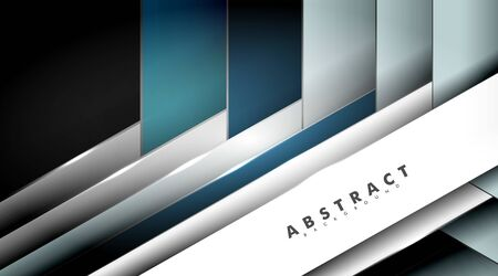 Abstract vector background. overlapping geometric shape textures. Layout design Ilustração