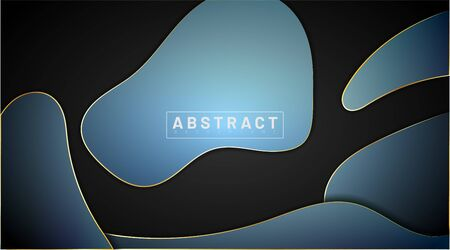 Modern abstract vector background. The minimum design concept with liquid. Vector illustrations for wallpapers, banners, backgrounds, cards, book illustrations, landing pages
