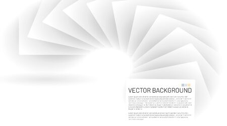 Modern abstract vector background. white square patterns that overlap with shadows. Vector illustrations for wallpapers, banners, backgrounds, cards, landing pages Ilustração