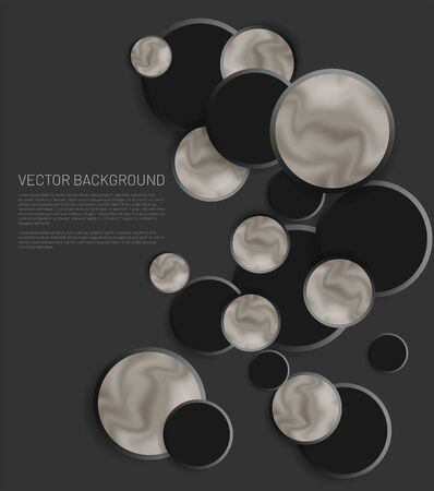 Modern abstract circle vector background. The overlapping and simple circle  design concept . Vector illustrations for wallpapers, banners, backgrounds, etc. space for text