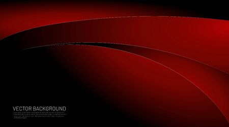 Modern black red gradient vector background. black and wave red gradient design concepts. Vector illustrations for wallpapers, banners, backgrounds, etc. Space for text Illustration