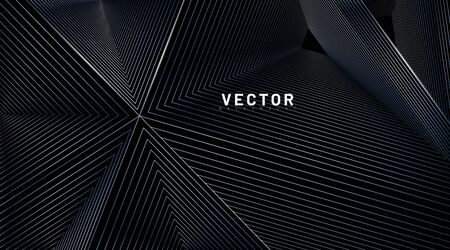 abstract background vector. illusion of triangular lines. Vector illustrations for wallpapers, banners, backgrounds, cards, book illustrations, landing pages Ilustração