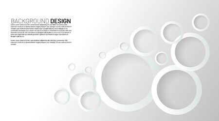 abstract vector background. white circle rings with overlapping shadows. design illustration