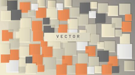 abstract vector background. square shape overlap. 3D design