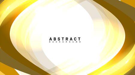 abstract vector background. golden waves overlap with light. design technology Ilustração