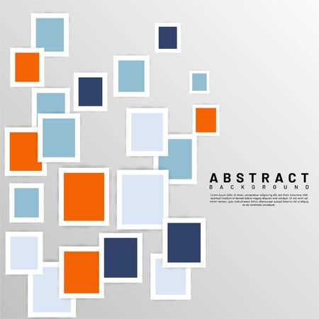 abstract vector background. overlapping square design. Vector illustrations for wallpapers, banners, backgrounds, cards, book illustrations, landing pages