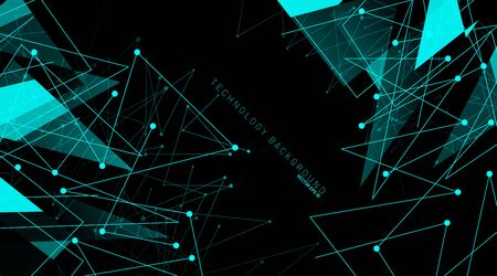abstract vector background. polygonal space low poly dark background with connecting dots and lines . Vector Illustration For Wallpaper, Banner, Background, Card, Book Illustration, landing page