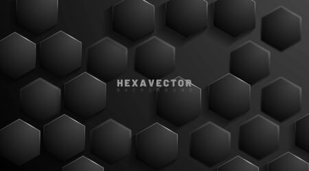 hexagon abstract vector background. The concept of 3d futuristic technology. Vector Illustration For Wallpaper, Banners, Backgrounds, Cards, Landing Pages, etc.