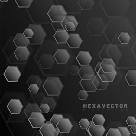 hexagon abstract vector background. design concept futuristic technology. Vector Illustration For Wallpaper, Banners, Backgrounds, Cards, Landing Pages, etc.