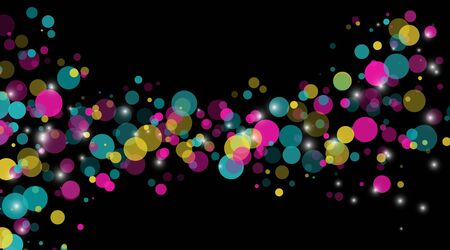 abstract vector background. Circle Dot Unique color pastel  isolated black  Background . Vector Illustration For Wallpaper, Banner, Background, Card, Landing Page etc.