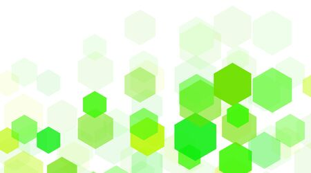 abstract vector background. Concept shape hexagon green .Vector Illustration For Wallpaper, Banner, Background, Card, landing page , etc