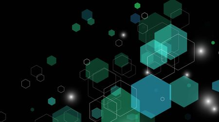 abstract vector background. Concept shape hexagon green. Vector Illustration For Wallpaper, Banners, Background, Cards, landing pages, etc.