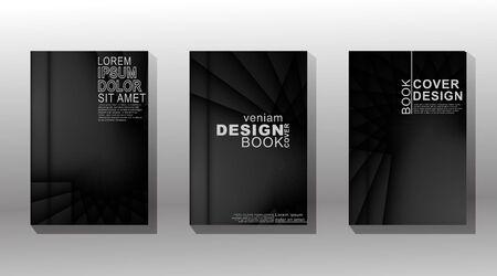 Diseño de cubierta minimalista. superposición de forma con sombra y luz brillante. ilustración vectorial