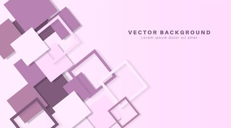 Vector Abstract geometric shape. 3d square paper background.Vector Illustration For Wallpaper, Banner, Background, Card, landing page , etc