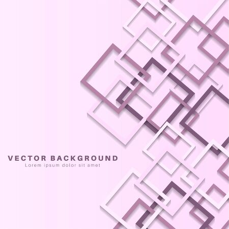 Vector Abstract geometric shape. 3d square paper background.Vector Illustration For Wallpaper, Banner, Background, Card,  landing page , etc  イラスト・ベクター素材
