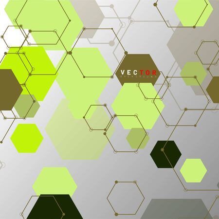 Vector Abstract geometric shape. hexagon with line .Vector Illustration For Wallpaper, Banner, Background, Card,  landing page , etc Stok Fotoğraf - 137797122