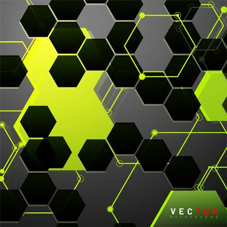 Vector Abstract geometric shape. hexagon with line .Vector Illustration For Wallpaper, Banner, Background, Card,  landing page , etc Stok Fotoğraf - 137800402