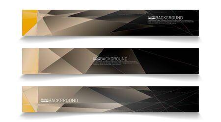 Abstract vector template web background. rectangular polygon design banner