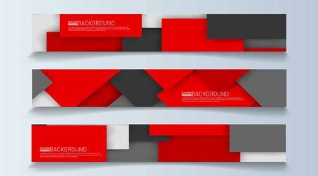 rectangular banner background vector. geometric shape design