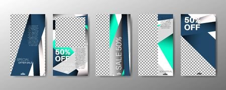 abstract vector of geometric background. The company's business advertising template for social media  イラスト・ベクター素材