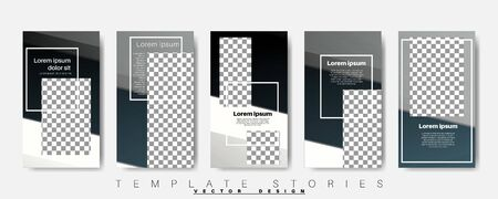 Editable story background template. Vector background for modern designs for social media. post Layout for promotion