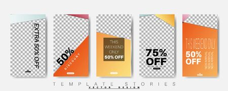 Geometric shape banner template that can be edited for social media posts. vector design