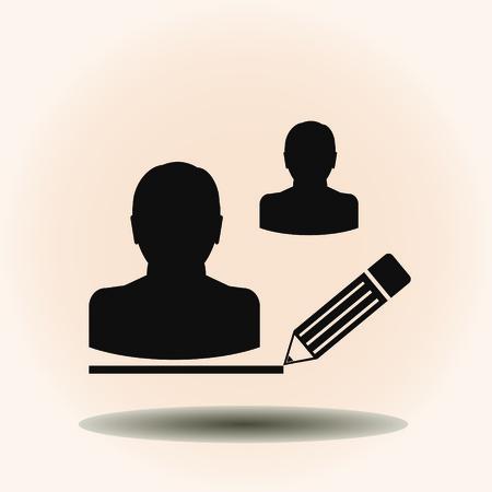 job satisfaction: man icon. vector illustration. Flat design style.
