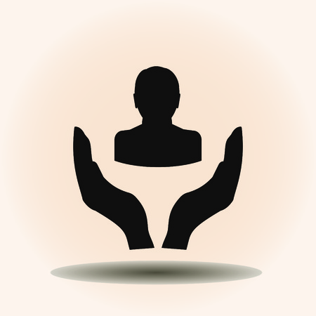 man icon. vector illustration. Flat design style.