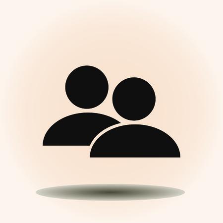 People icon. vector illustration. Flat design style.