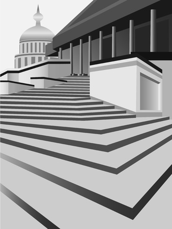 main entrance: Vector illustration. The main entrance to the building. Vatican. Illustration