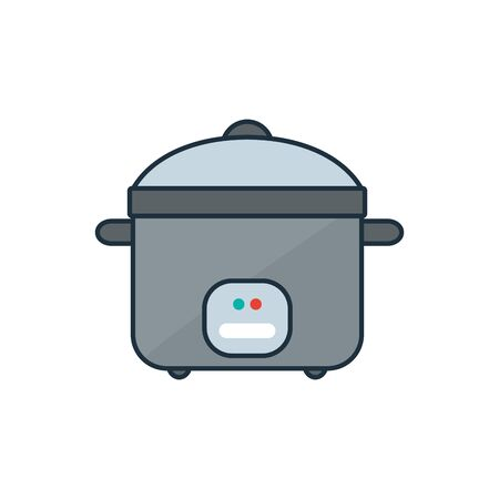 Rice cooker icon design. Household appliances illustration