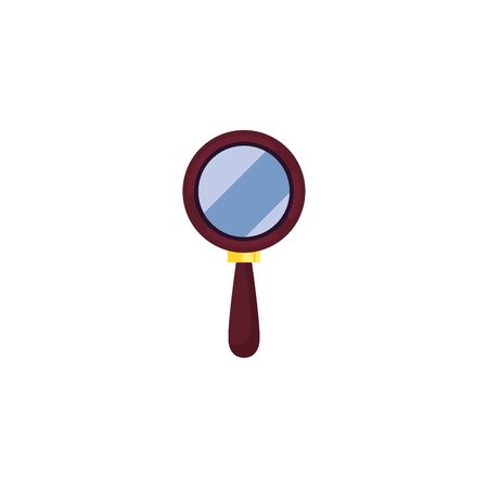 Lupe fill style icon design, Tool search magnifying glass zoom lens and exploration theme Vector illustration