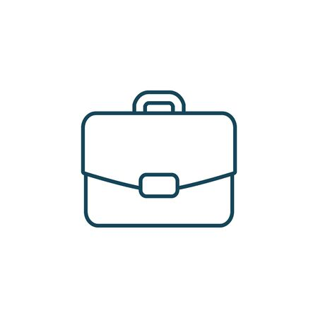 Suitcase bag line style icon design, Case office school university travel baggage luggage handle leather and trip theme Vector illustration