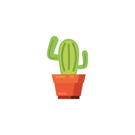 Cactus fill style icon design, Plant desert nature tropical summer mexico and western theme Vector illustration