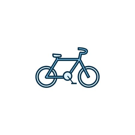 bike line style icon design, Vehicle bicycle cycle healthy lifestyle sport and leisure theme Vector illustration