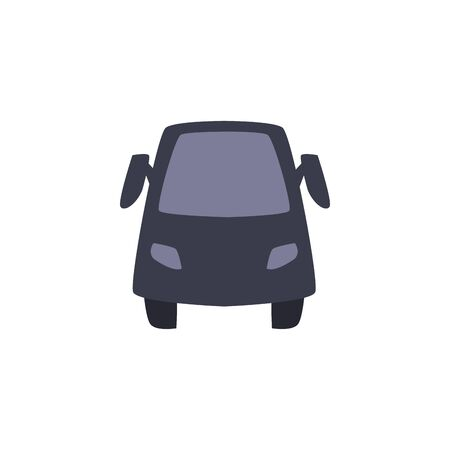 Car vehicle fill style icon design, Transportation travel trip urban motor speed fast and driving theme Vector illustration