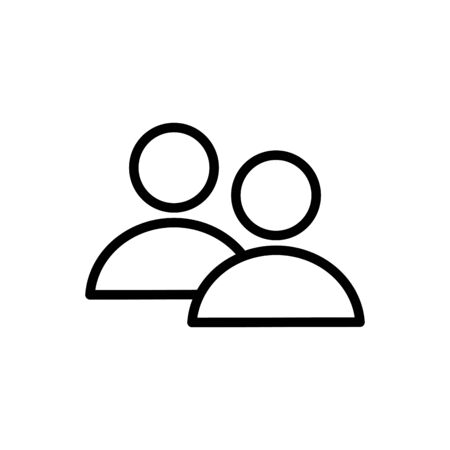 Avatars line style icon design, Social media multimedia communication digital marketing internet web and connect theme Vector illustration