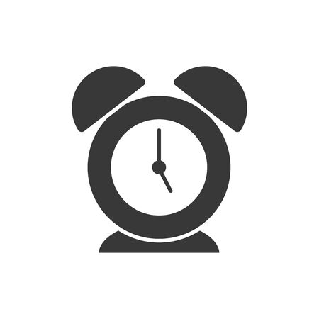 Clock instrument silhouette style icon design, Time tool watch second deadline measure countdown and object theme Vector illustration