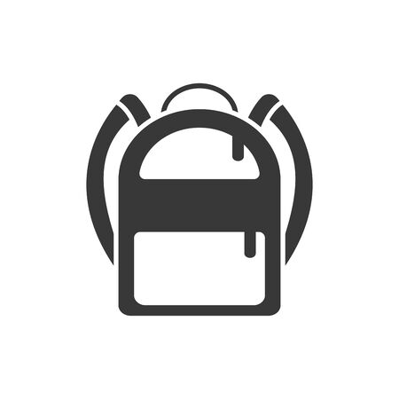 School bag silhouette style icon design, Eduaction class lesson knowledge preschooler study learning classroom and primary theme Vector illustration