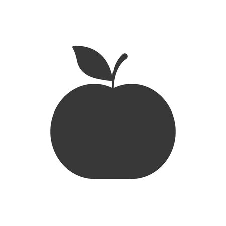 Apple silhouette style icon design, Fruit healthy organic food sweet and nature theme Vector illustration