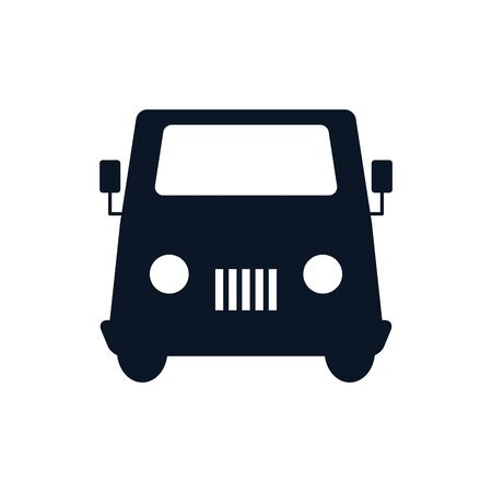 Security car vehicle silhouette style icon design, Transportation travel trip urban motor speed fast and driving theme Vector illustration