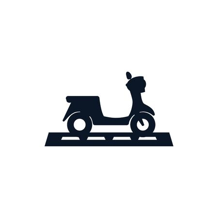 Motorcycle vehicle silhouette style icon design, Transportation travel trip urban motor speed fast and driving theme Vector illustration