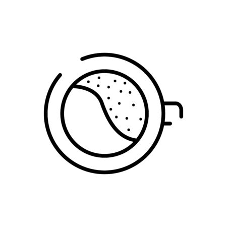 Coffee cup line style icon design of time drink breakfast beverage morning store aroma and caffeine theme Vector illustration Иллюстрация